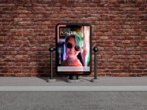 Bricks Environment Billboard Free Mockup