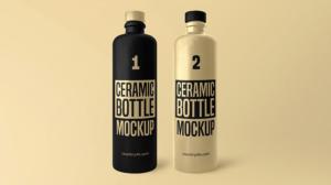 Ceramic Bottles Free Mockup
