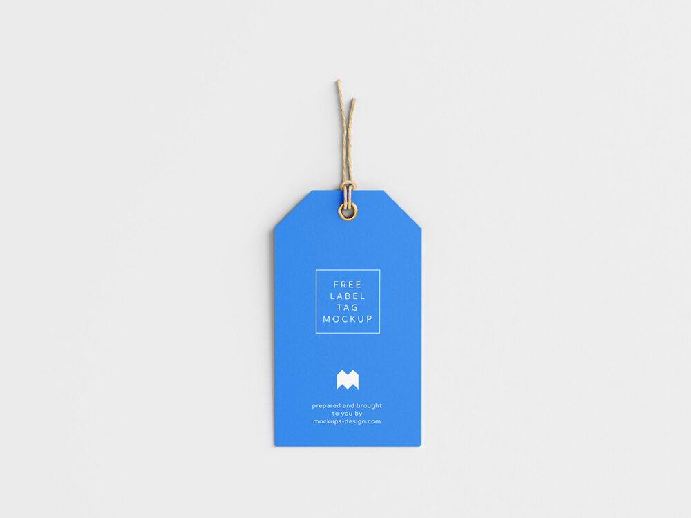 Clean Label Tag Free Mockup