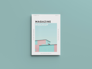 Clean View Magazine Cover Free Mockup