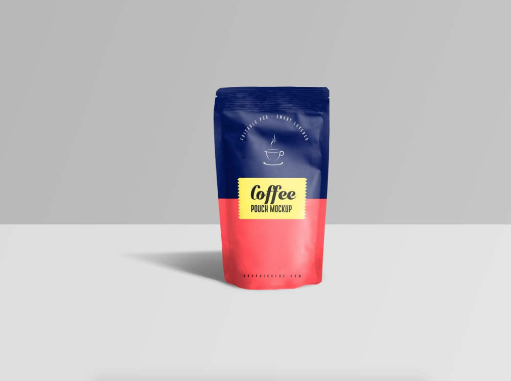 Coffee Pouch Free Mockup