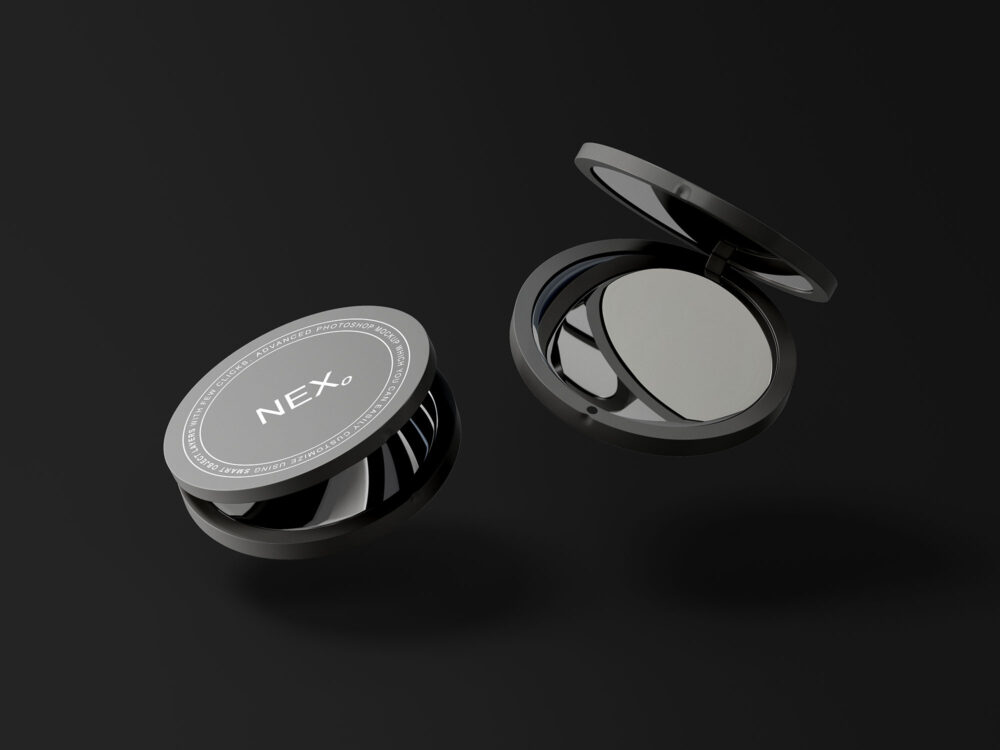 Compact Mirror Free Mockup