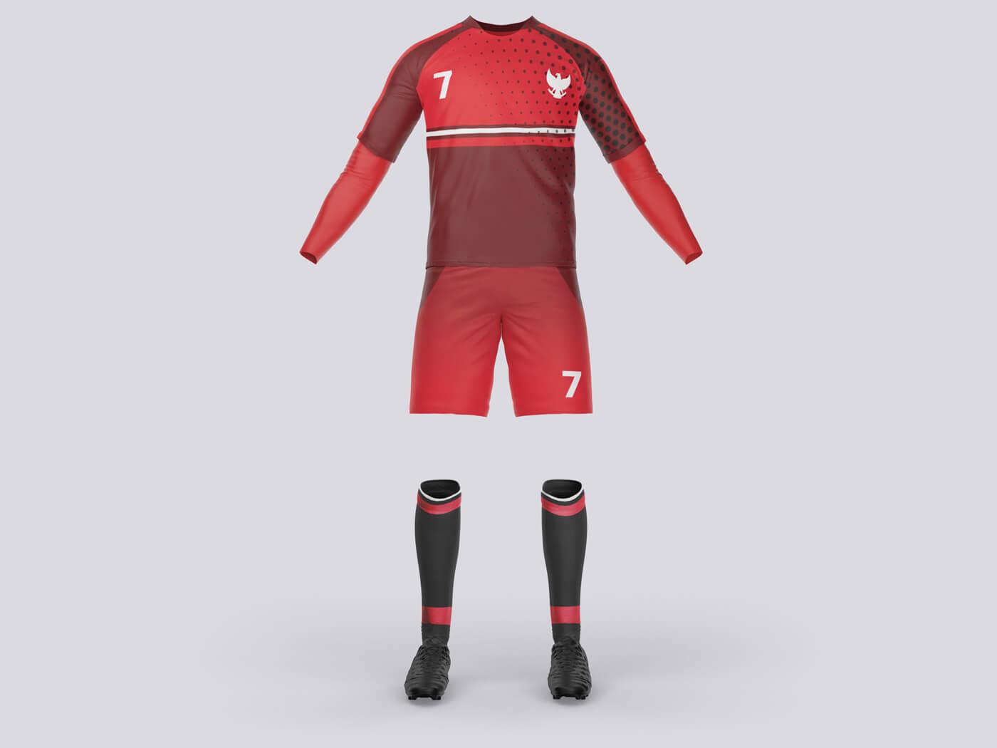 Complete Soccer Costume Kit Free Mockup