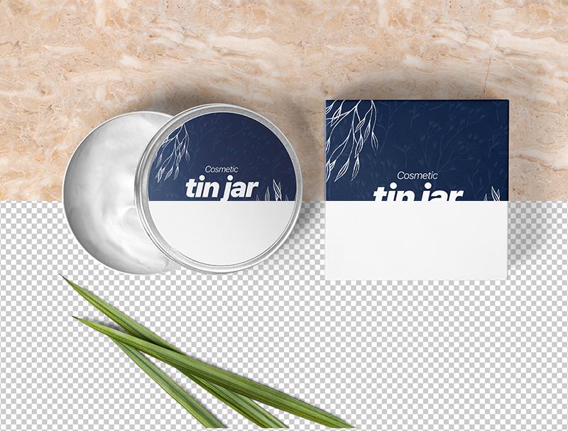 Cosmetic Tin Jar Free Mockup Packaging