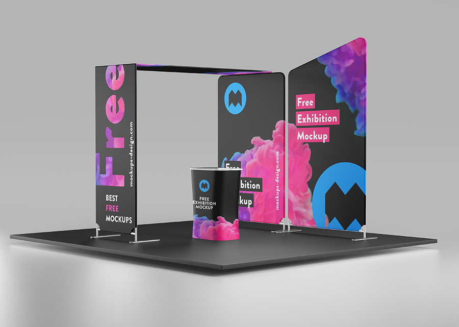 Exhibition Stage Free Mockup