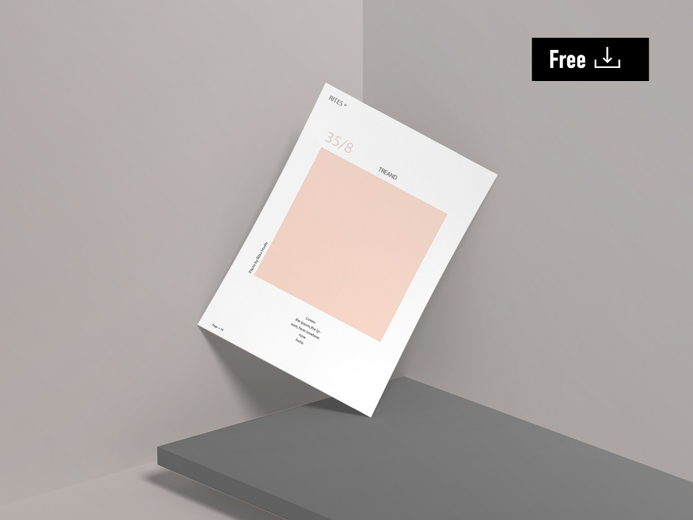 Flyer Presentation Free Mockup