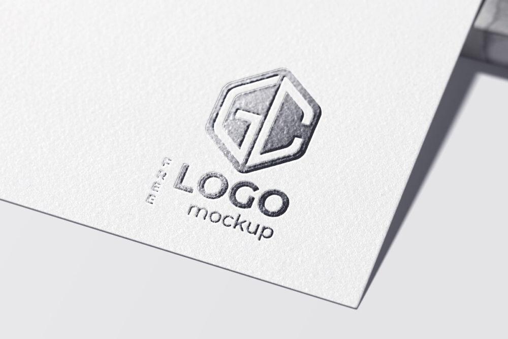 Foil Stamping Logo Free Mockup