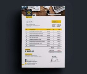 Free A4 Invoice Template (PSD)