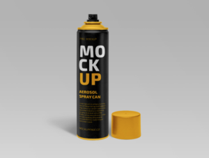 Free Aerosol Spray Can Mockup (PSD)