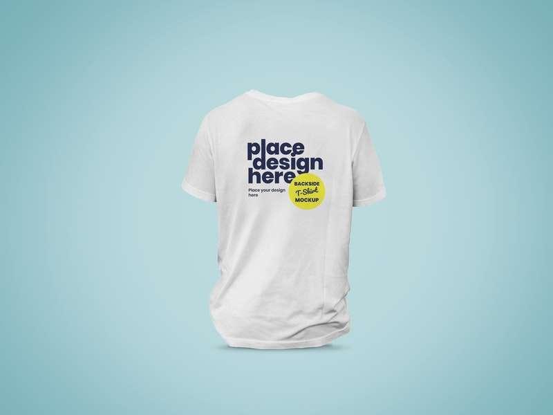 Free Backside T-Shirt Mockup