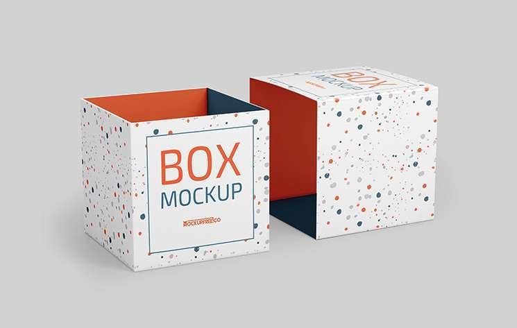 Free Box Packaging Mockup