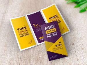 Free Brochure Tri-Fold Mockup (PSD)