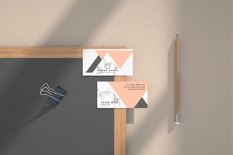 Free Business Card Scene Mockup Kit