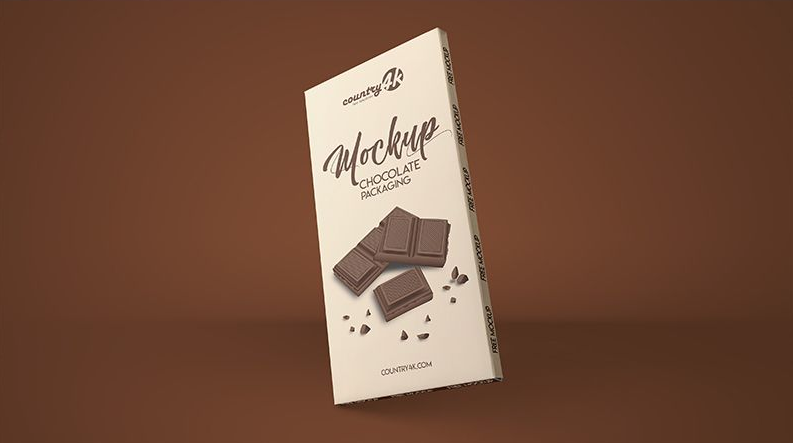 Free Chocolate Package Mockup (PSD)