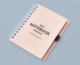 Free Clean Notebook Mockup (PSD)