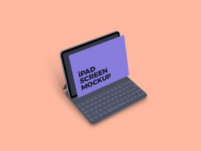 Free Clean iPad Screen Mockup