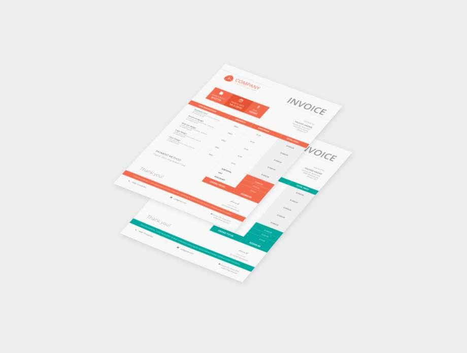 Free Company Invoice Template (PSD)