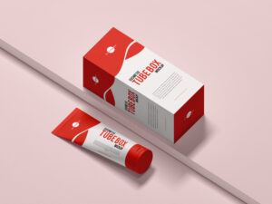 Free Cosmetic Tube Box Mockup