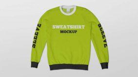 Free Crew Neck Sweatshirt Mockup