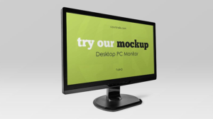 Free Desktop PC Monitor Mockup