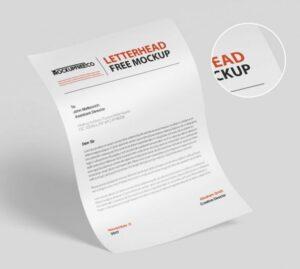 Free Flyer / Letterhead Mockup (PSD)