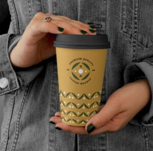 Free Holding Big Coffee Cup Mockup