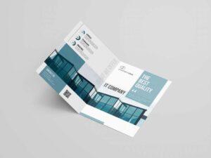 Free IT Service Bi-Fold Brochure Template (PSD)