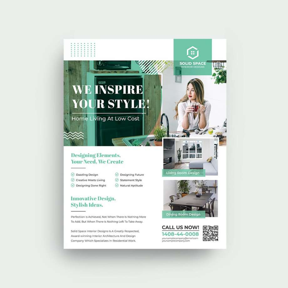 Free Interior Design Flyer Template (PSD)