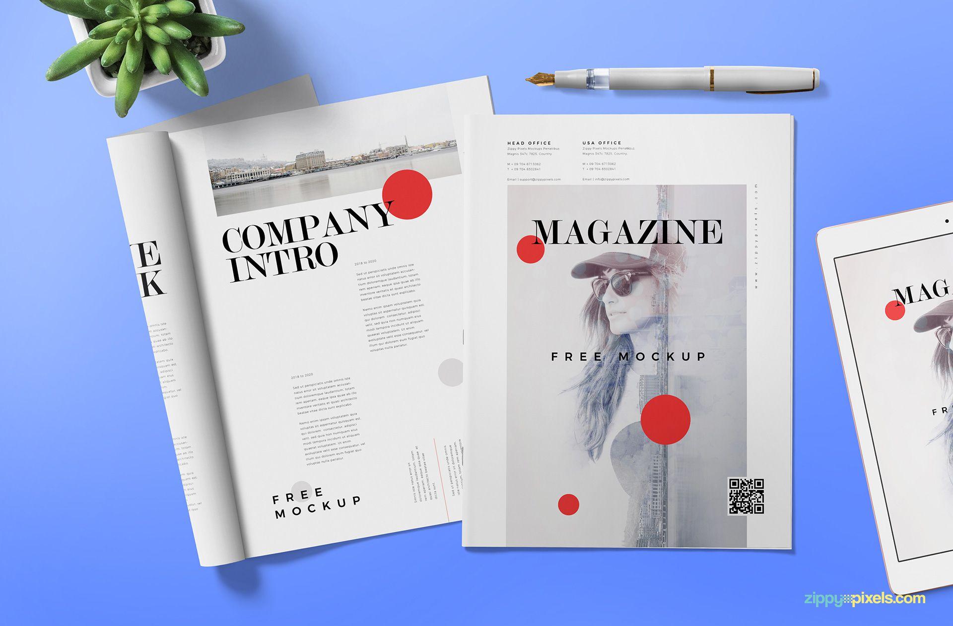 Free Magazine Ad Mockup (PSD)