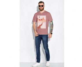 Free Man's V-Neck T-Shirt Mockup