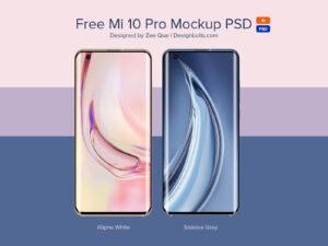 Free Mi 10 Pro 5G Smartphone Mockup