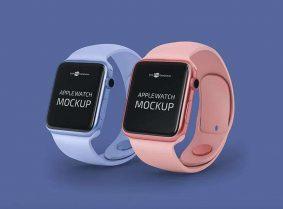 Free Minimal Apple Watch Mockup (PSD)