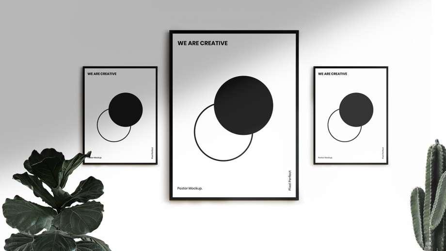 Free Minimalist Poster Frames Mockup