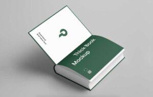 Free Open Book Mockup
