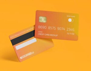 Free Plastic Credit Cards Mockup