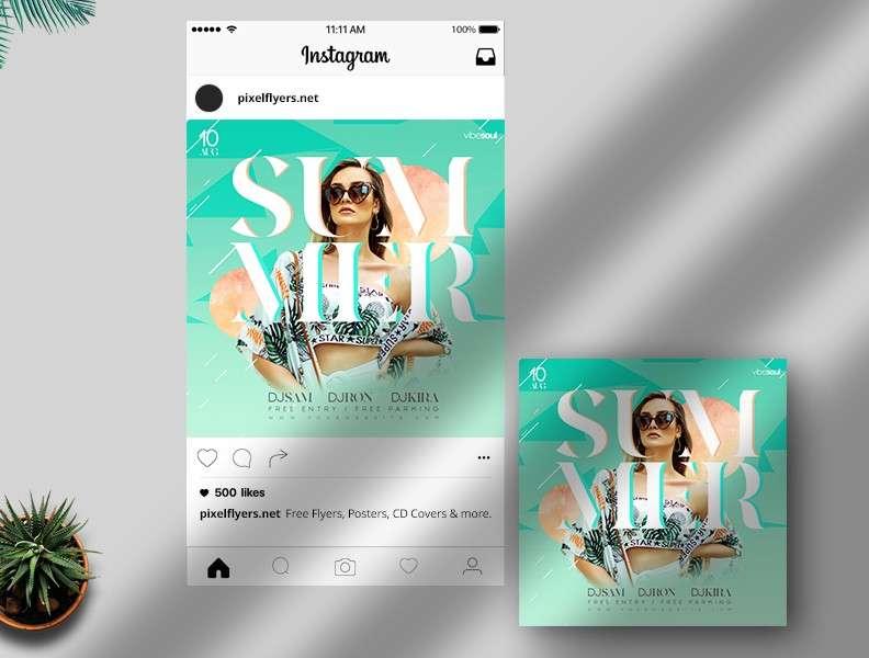 Free Summer Vivid Instagram Banner (PSD)