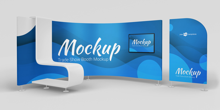 Free Trade Show Booth Mockup