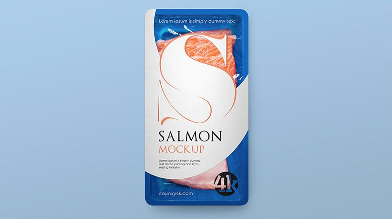 Free Tray with Fish Product Mockup