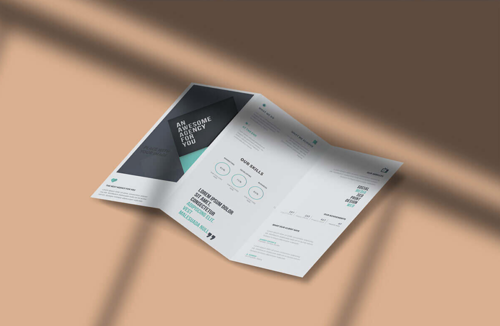 Free Tri-Fold Brochure Mockup Pack