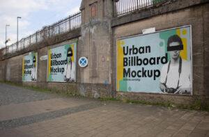 Free Urban Billboards Mockup (PSD)