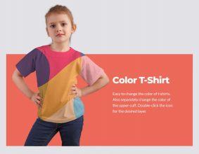 Free Young Girl T-Shirt Mockup (PSD)