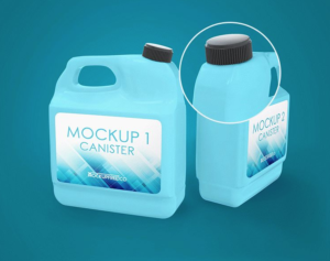 Fuel Canister Free Mockup