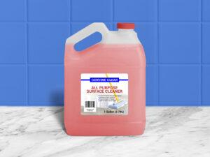 Gallon HDPE Plastic Liquid Bottle Free Mockup