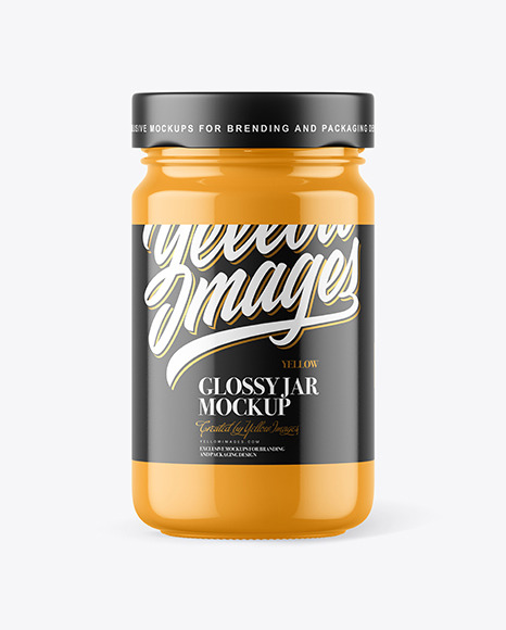 Glossy Jar Free Mockup (PSD)