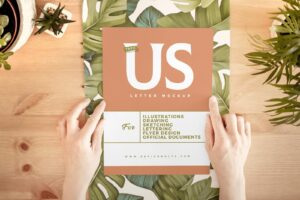 Hand Holding Paper Free Mockup