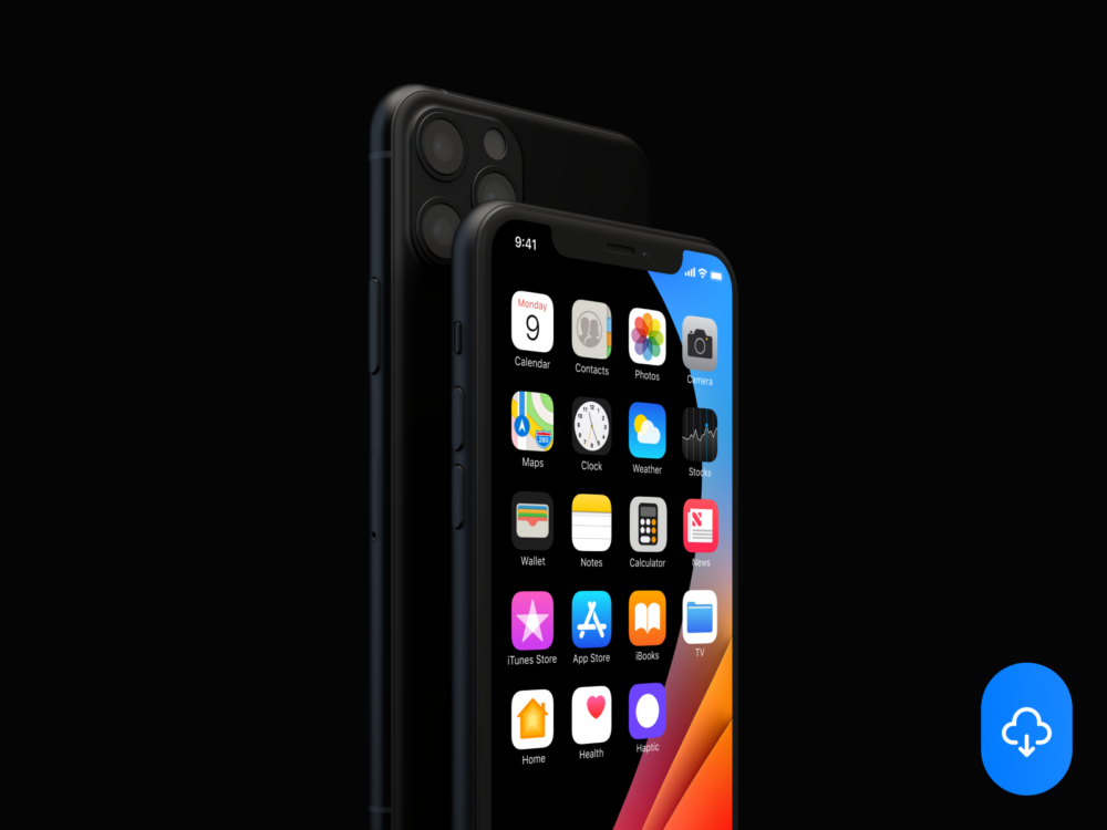 Horizontal iPhone 11 Free Mockup