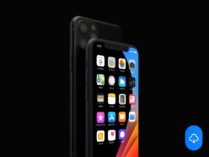 Horizontal iPhone 11 Free Mockup