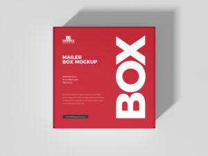 Mailer Box Free Mockup