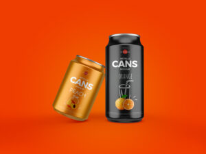 Metallic Can Free Mockup