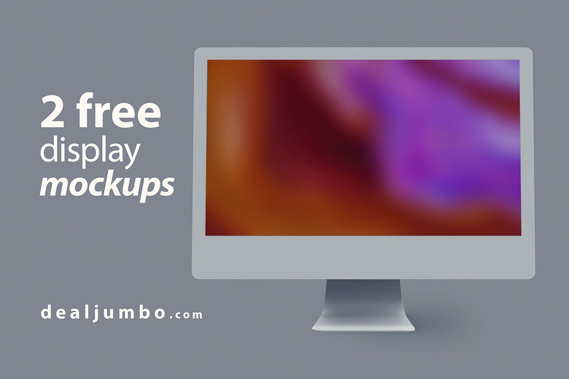 Minimal Display iMac Free Mockup